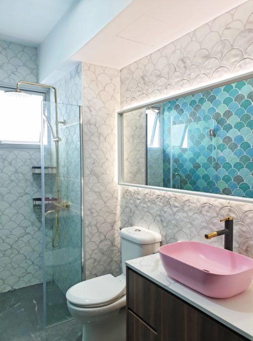 bathroom-renovation-singapore-fish-scale-tiles